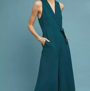 NWT Anthropologie Maeve green jumpsuit size 14